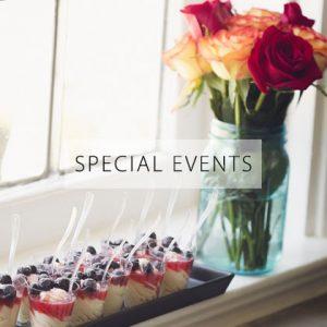 Dessert and Flowers